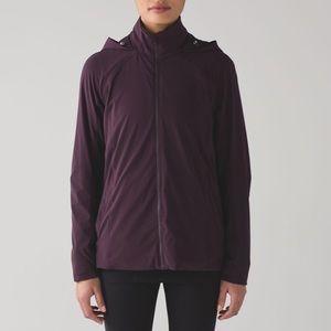 LULULEMON Step To It Purple Rain Jacket with Hood
